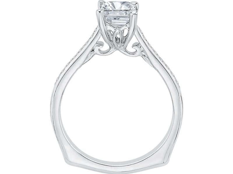 Engagement - Semi-Mount Engagement Ring with Emerald Cut Center  - image #3