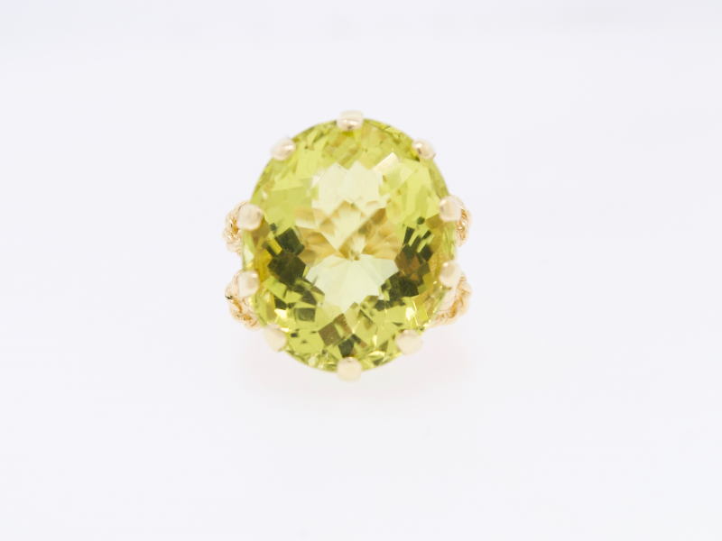 Estate - 14KY Lemon Citrine Ring - image #2