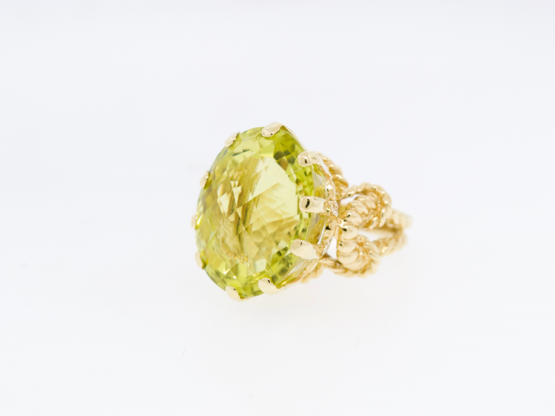 Estate - 14KY Lemon Citrine Ring