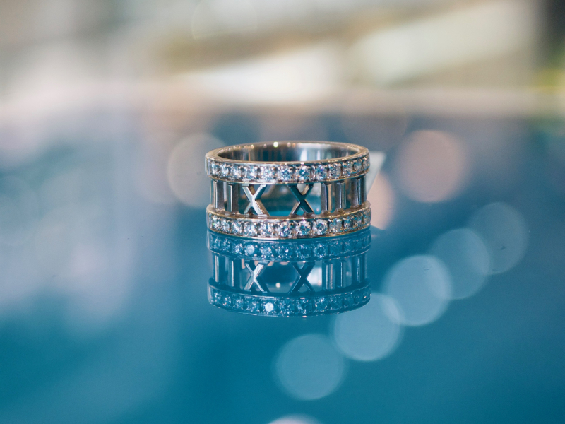 Estate-Rings - Tiffany Atlas Diamond Ring - image #2
