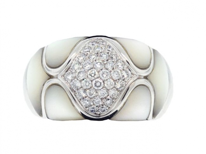 Estate - Estate Mother of Pearl Ring - image #2