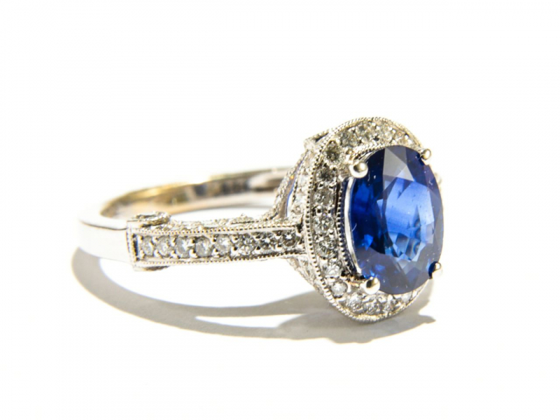 Rings - Oval Sapphire Ring - image #2
