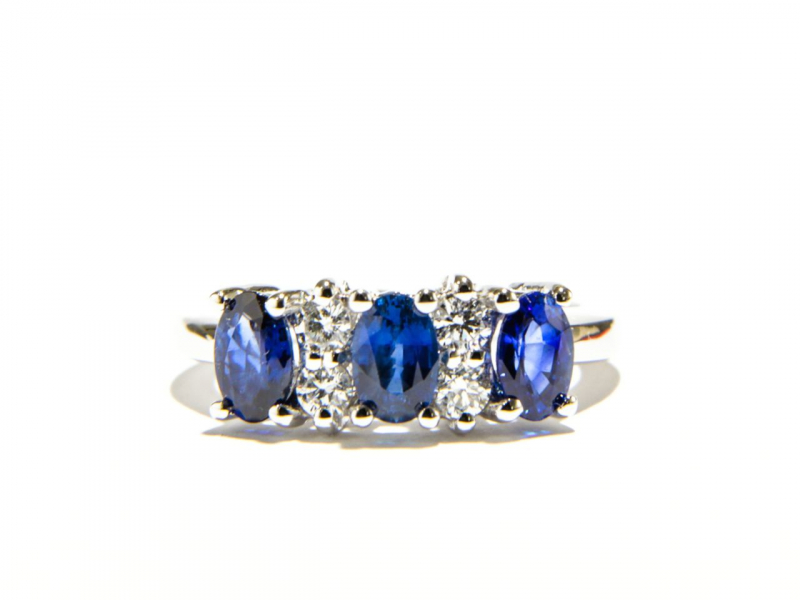 Rings - 3-Stone Sapphire Ring - image #2