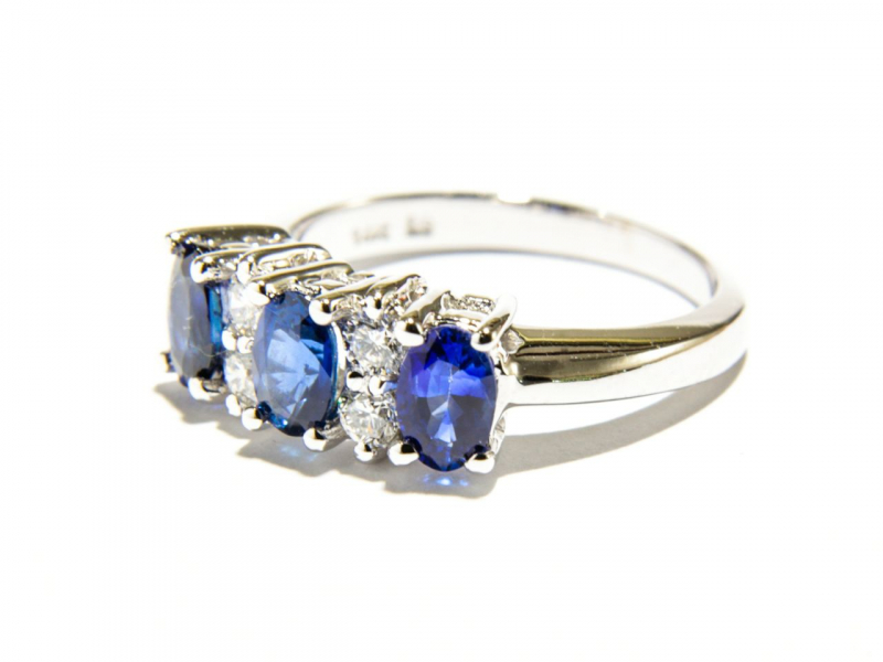 Rings - 3-Stone Sapphire Ring - image #3