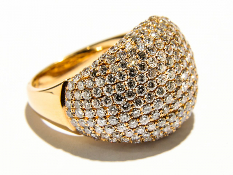 Rings - Diamond Pave Dome Ring - image #2