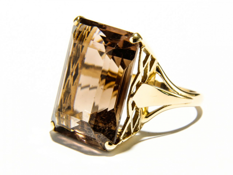 Estate - Estate Smokey Quartz Ring - image #2