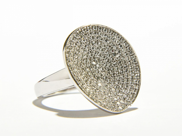 Rings - Diamond Pave Disc Ring