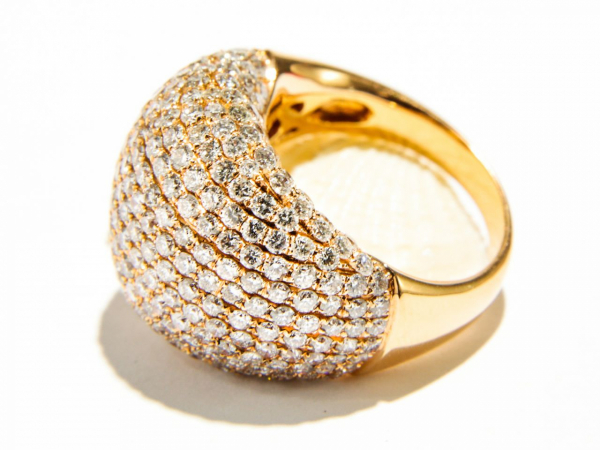 Rings - Diamond Pave Dome Ring