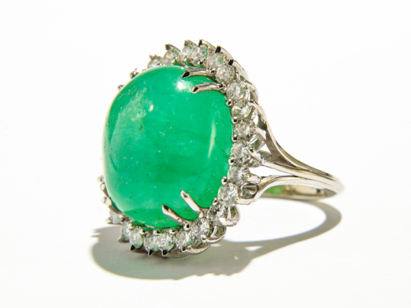 Estate - 27 Carat Estate Emerald Cocktail Ring