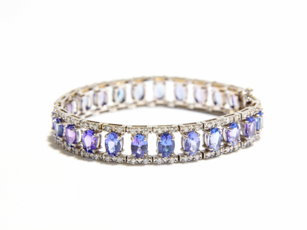 Estate - Tanzanite & Diamond Tennis Bracelet