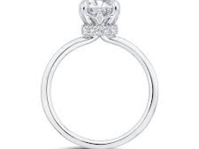 Engagement - 18KW Solitaire Diamond Engagement Ring Setting - image #2