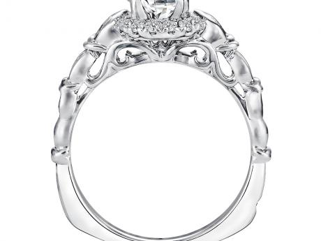 Bridal Jewelry - Burnished Set Diamond Ring Mounting - image 2