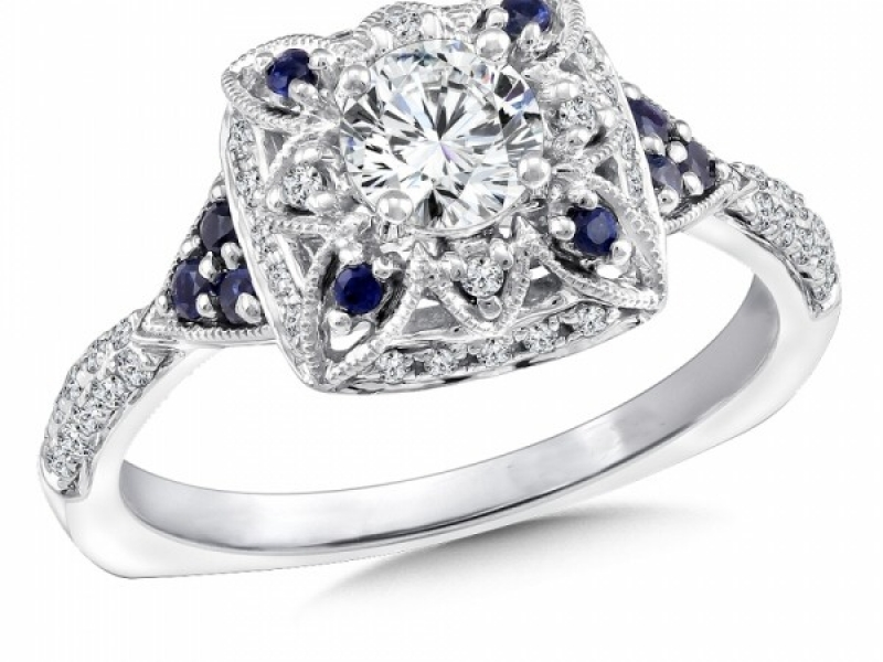 Engagement Rings - Vintage Inspired Sapphire & Diamond Ring Mounting