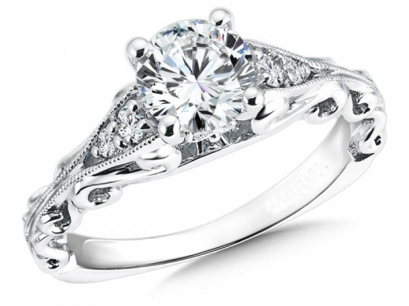 Engagement Rings - Open Scroll Vintage Inspired Diamond Ring Mounting