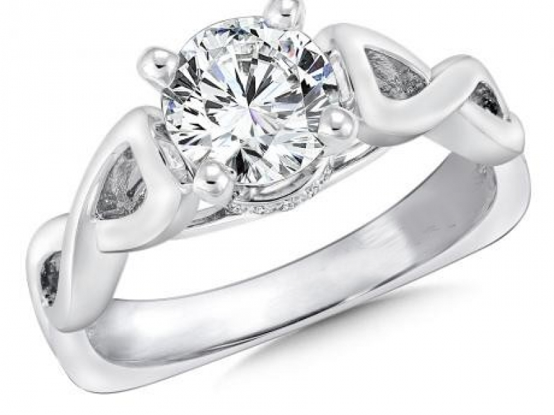 Bridal Jewelry - Infinity Diamond Ring Mounting