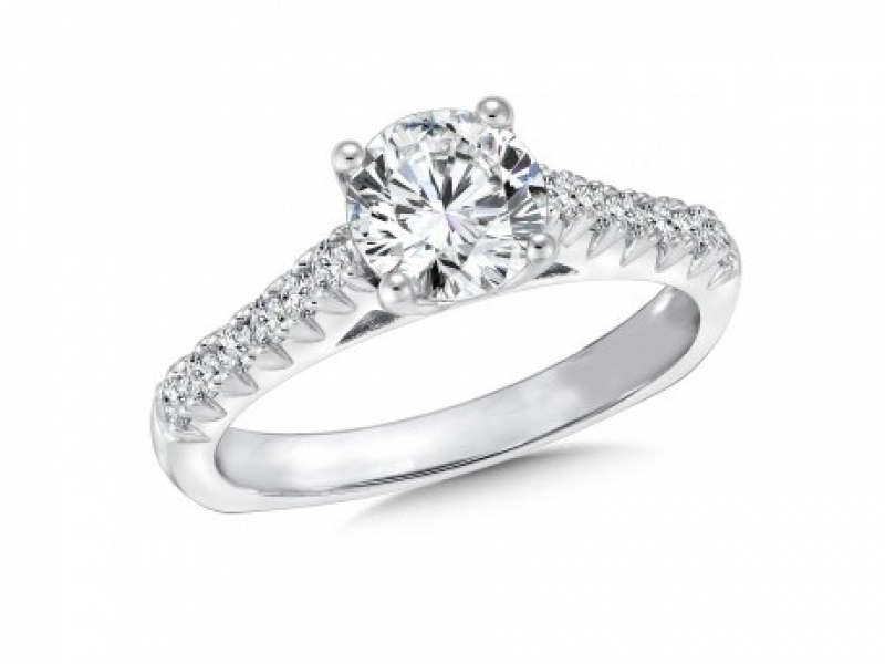 Engagement Rings - Raised Shoulder Diamond Ring Mounting