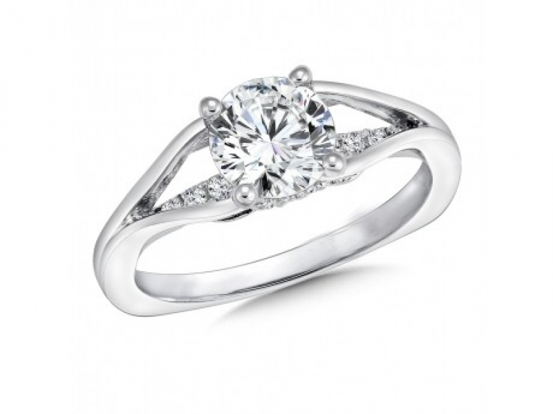Bridal Jewelry - Split Shank Bridge Diamond Ring Mounting