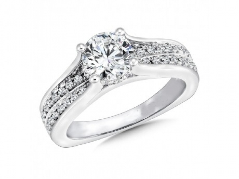 Bridal Jewelry - Bridge Design Diamond Ring Mounting