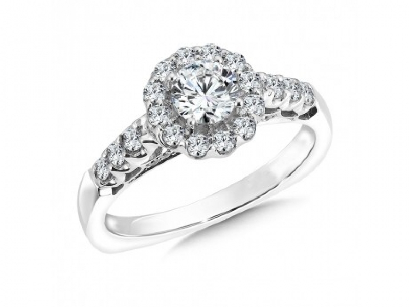 Engagement Rings - Flower Halo Diamond Ring Mounting