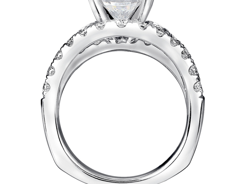 Bridal Jewelry - Raised Countour Band Diamond Ring Mouting - image #2