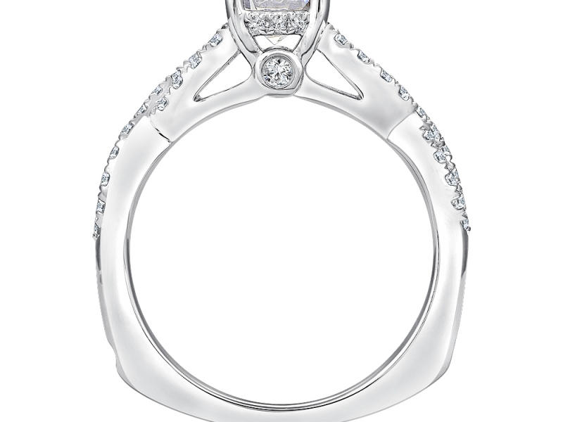 Engagement Rings - Infinity Desgin Diamond Ring Mounting - image #2
