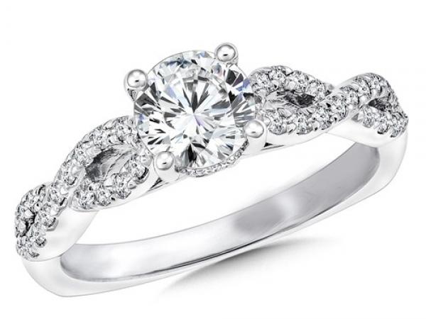 Engagement Rings - Infinity Desgin Diamond Ring Mounting