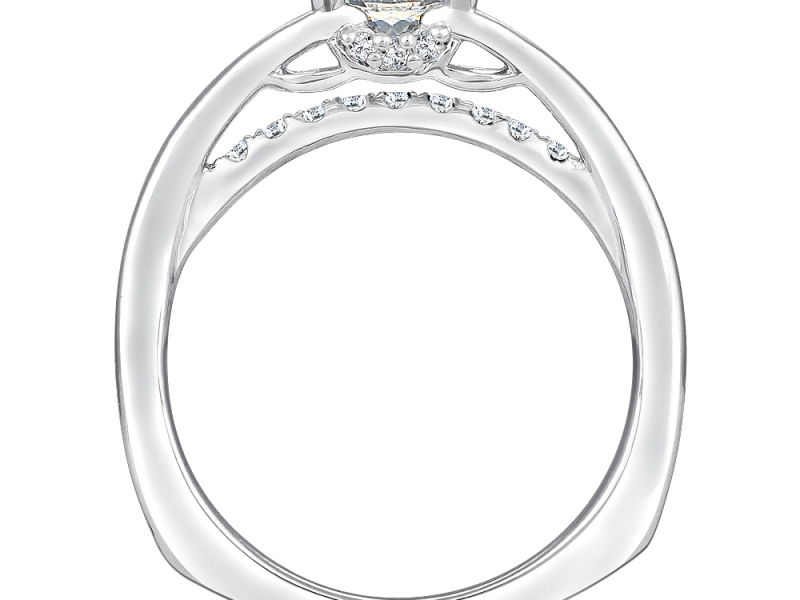 Bridal Jewelry - Split Shank Bridge Diamond Ring Mounting - image #2