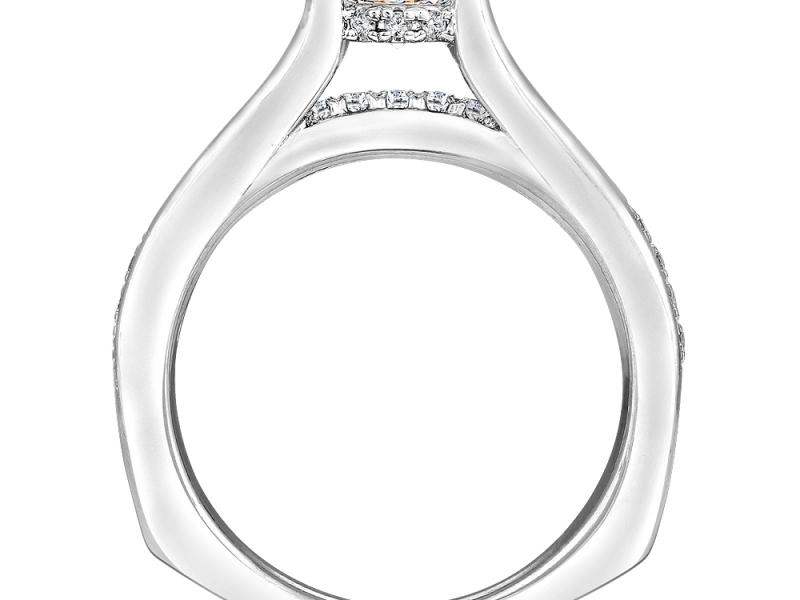 Bridal Jewelry - Bridge Design Diamond Ring Mounting - image #2