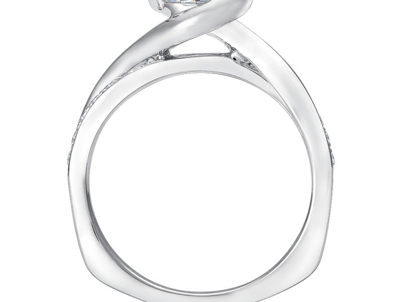 Bridal Jewelry - Semi Bezel Diamond Ring Mounting - image #2