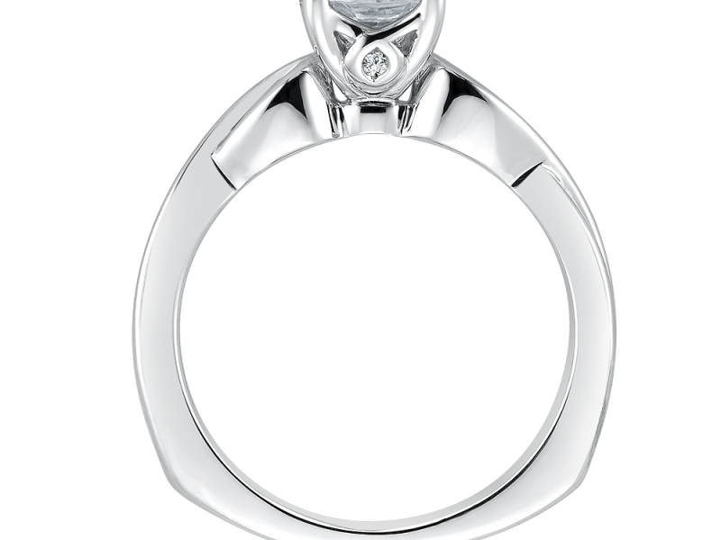Engagement Rings - Solitaire Engagement Ring Mounting in 14K White Gold - image #2
