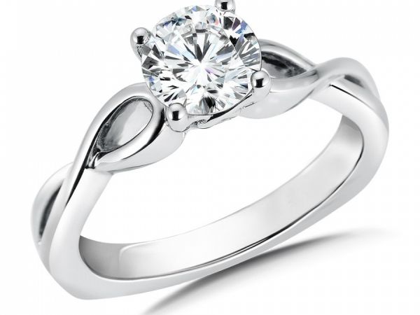 Engagement Rings - Solitaire Engagement Ring Mounting in 14K White Gold