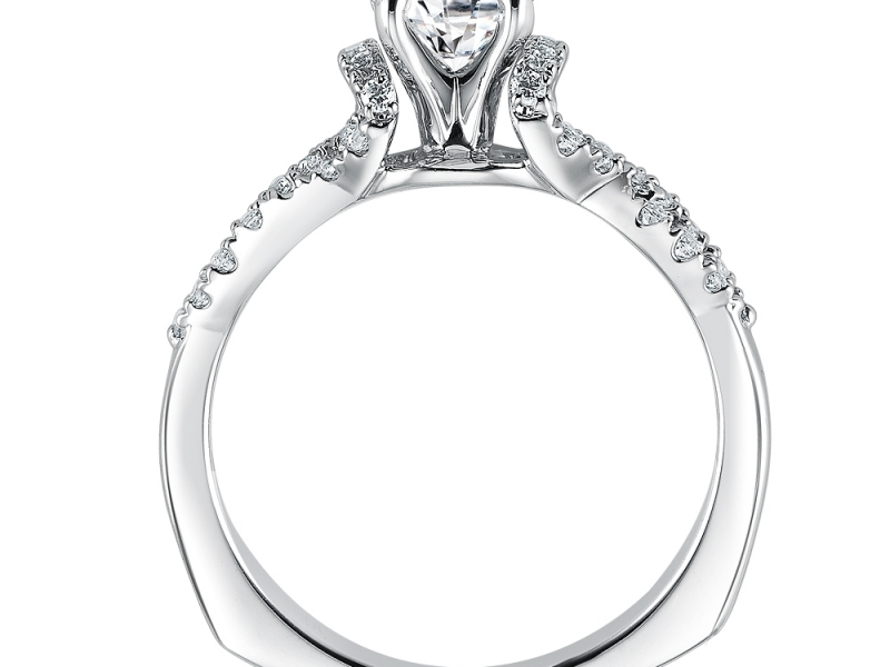 Bridal Jewelry - Infinity Symbol Diamond Ring Mounting - image #2