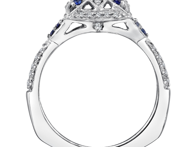 Rings - Vintage Inspired Sapphire & Diamond Ring Mounting - image #2