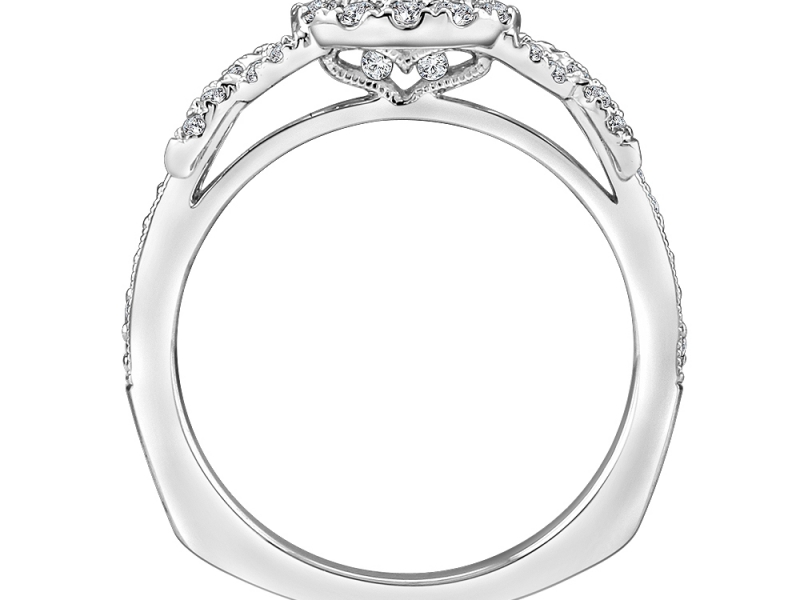 Bridal Jewelry - Infinity Knot Halo diamond Mounting - image #2