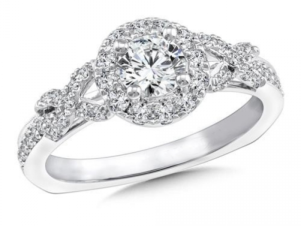 Engagement Rings - Infinity Knot Halo diamond Mounting
