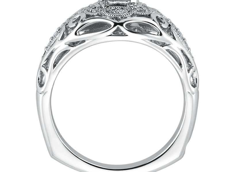 Engagement Rings - Vintage Inspired Swirl Diamond Ring Mounting  - image #2