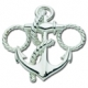Anchor Bracelet Clasp - Sterling Silver Anchor Bracelet Clasp to be used with Le Stage Convertible Bracelets 