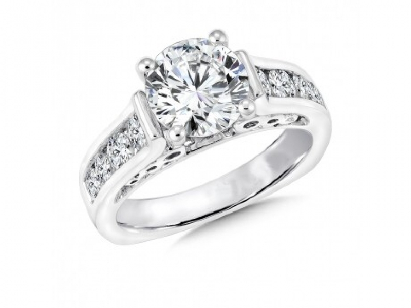 Bridal Jewelry - Channel-Set Diamond Ring Mounting
