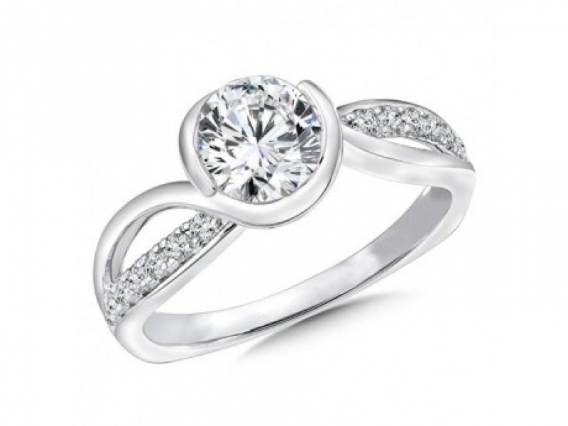 Bridal Jewelry - Semi Bezel Diamond Ring Mounting