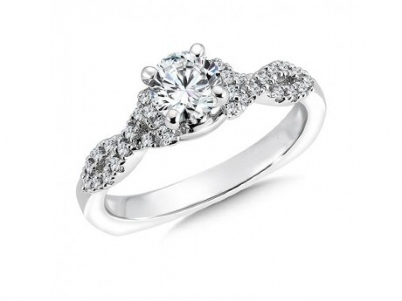 Bridal Jewelry - Infinity Symbol Diamond Ring Mounting