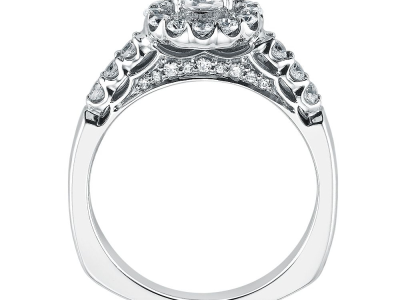 Engagement Rings - Flower Halo Diamond Ring Mounting - image #2