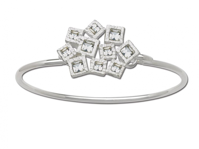 LeStage Convertible Bracelets - Clear Crystal Square