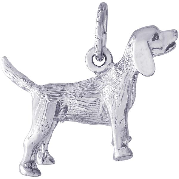 Charms - Beagle Dog Charm in Gold or Silver