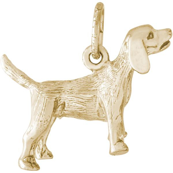 Charms - Beagle Dog Charm in Gold or Silver - image #2