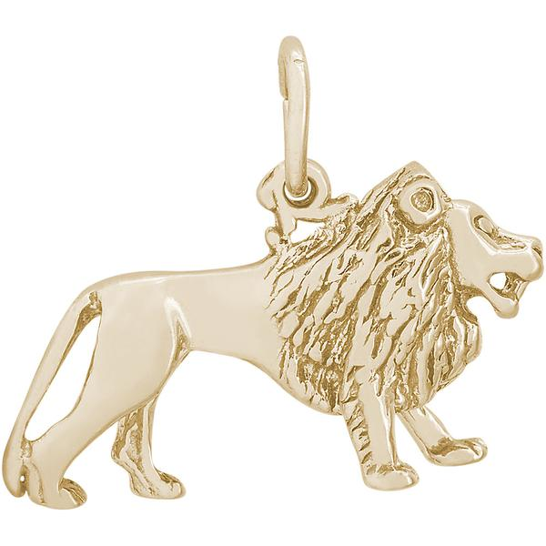 Charms - Lion Charm or Pendant on Silver or Gold