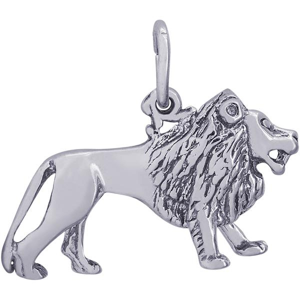 Charms - Lion Charm or Pendant on Silver or Gold - image #2
