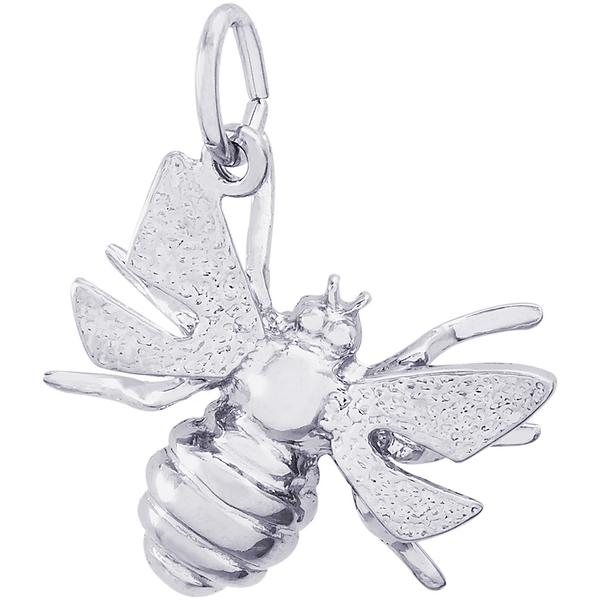 Charms - Bumble Bee Charm or Pendant in Gold or Silver - image #2