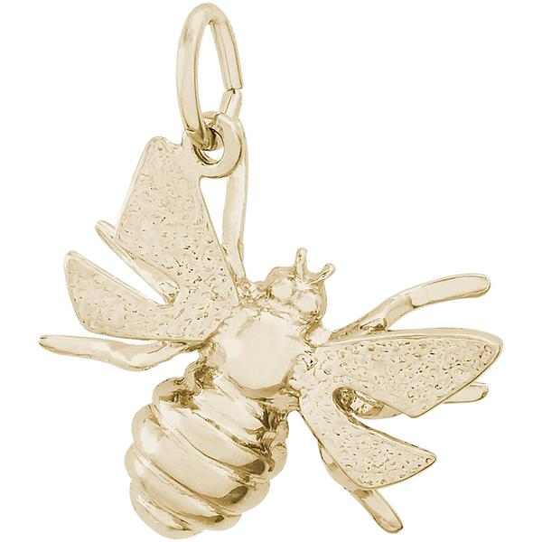 Charms - Bumble Bee Charm or Pendant in Gold or Silver