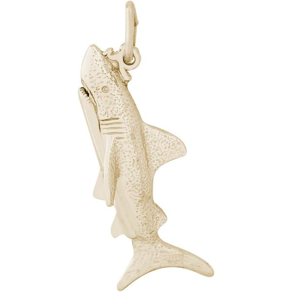 Charms - Great White Shark Charm or Pendant in Gold or Silver