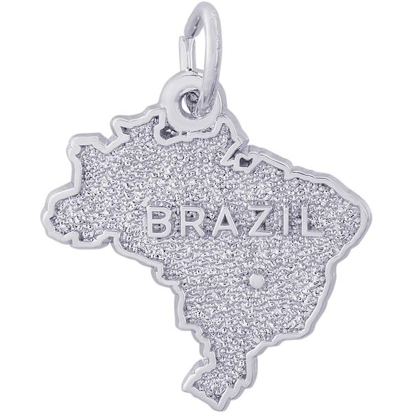Charms - Brazil Map Charm or Pendant in Gold or Silver